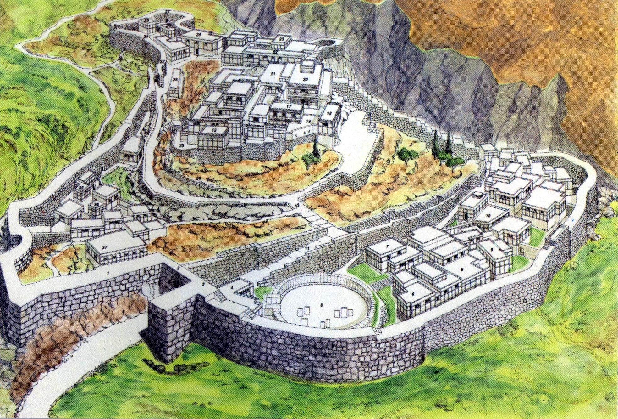 02 An imaginary scene of the ancient Mycenae
