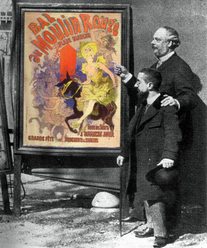 Jules_Cheret_and_Lautrec_with_poster